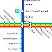 ROTTERDAM METRO SUBWAY HOLLAND