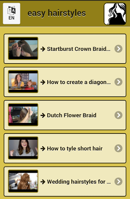 Easy hairstyles - screenshot