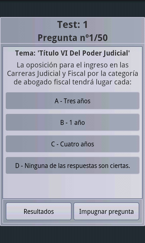 Constitucion Test Examenes - screenshot
