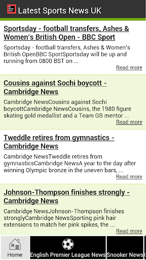 Latest Sports News UK