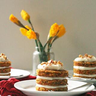 Mini Carrot Cakes.