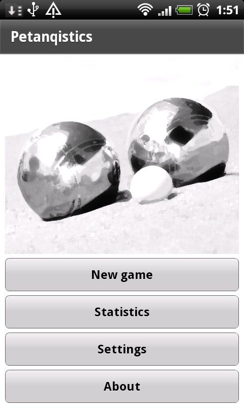 Petanque statistics demo - screenshot