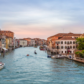 Amazing Venice by Tamer Kheiralla - City,  Street & Park  Historic Districts ( venezia, sunset, grand canal, venice, italy )