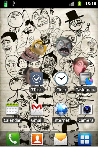 Rage Faces Live Wallpaper - screenshot