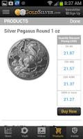 Screenshot of Gold Silver Vault