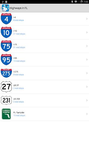5 USA Rest Stop Locator App screenshot