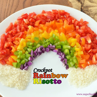 Crockpot Rainbow Risotto {With Peppers}
