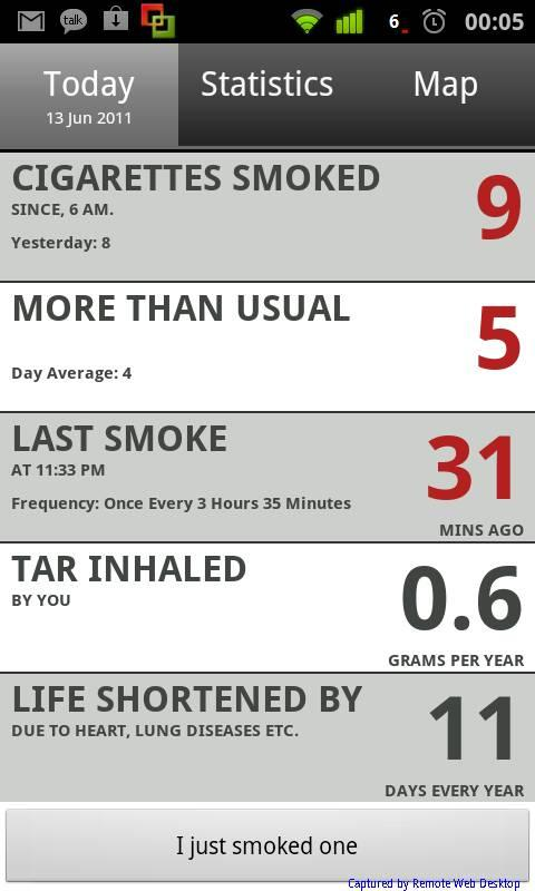 Ciggie - Quit smoking - screenshot