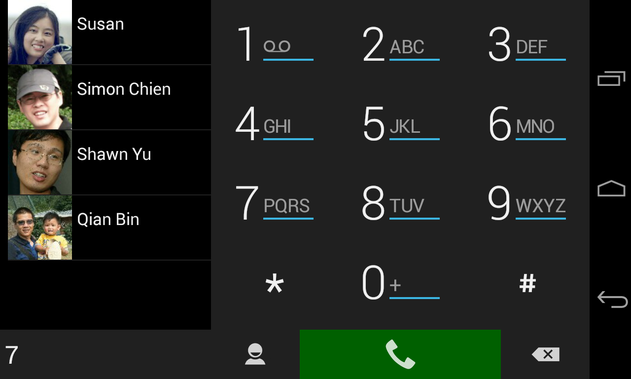 ExDialer SimpBlack Theme- screenshot