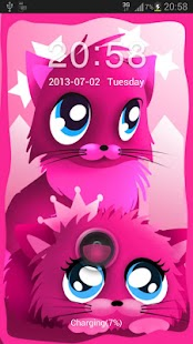 Pink cats theme 4 GO Locker- screenshot thumbnail
