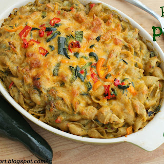 Roasted Poblano Pepper Mac and Cheese
