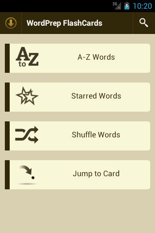GRE WordPrep Vocab Flashcards - screenshot