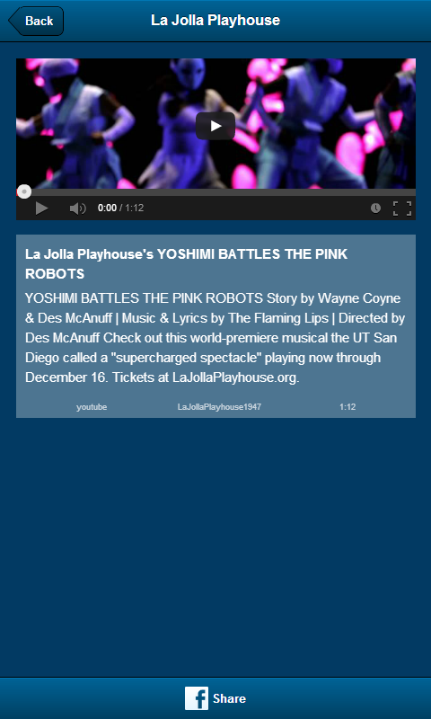 La Jolla Playhouse- screenshot