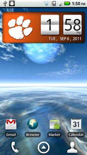 Clemson Tigers Clock Widget - screenshot thumbnail