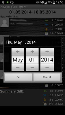 Advanced Call History - screenshot