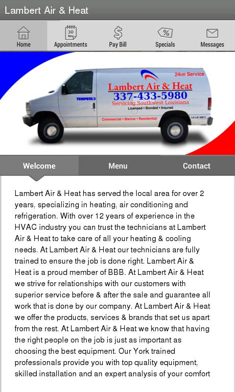 Lambert Air & Heat LLC - screenshot