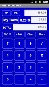 Sales Tax Discount Calculator screenshot 0
