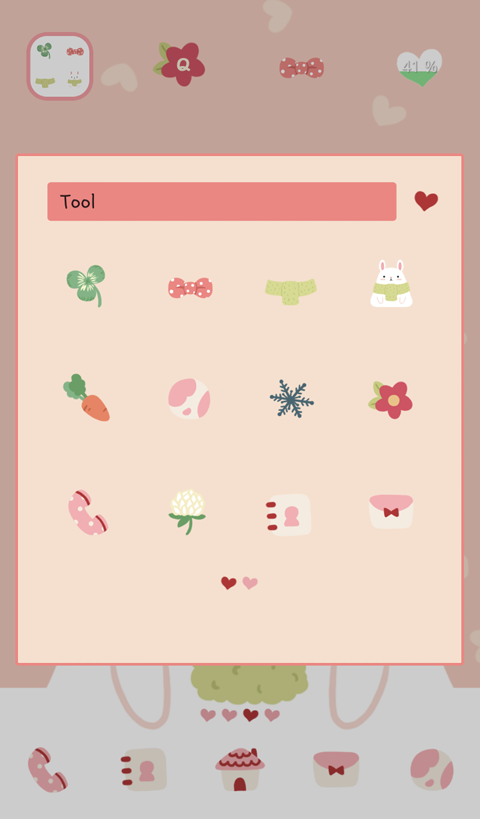 rabbit and carrot dodol theme - screenshot