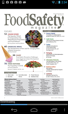 Food Safety Magazine - screenshot