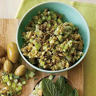 Minty Green Olive-Celery Salsa
