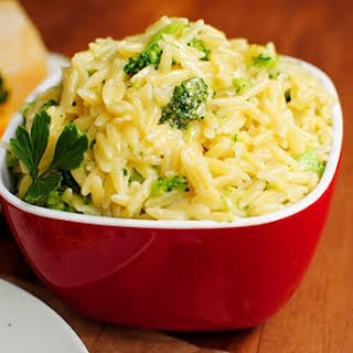 Cheesy Broccoli Orzo.