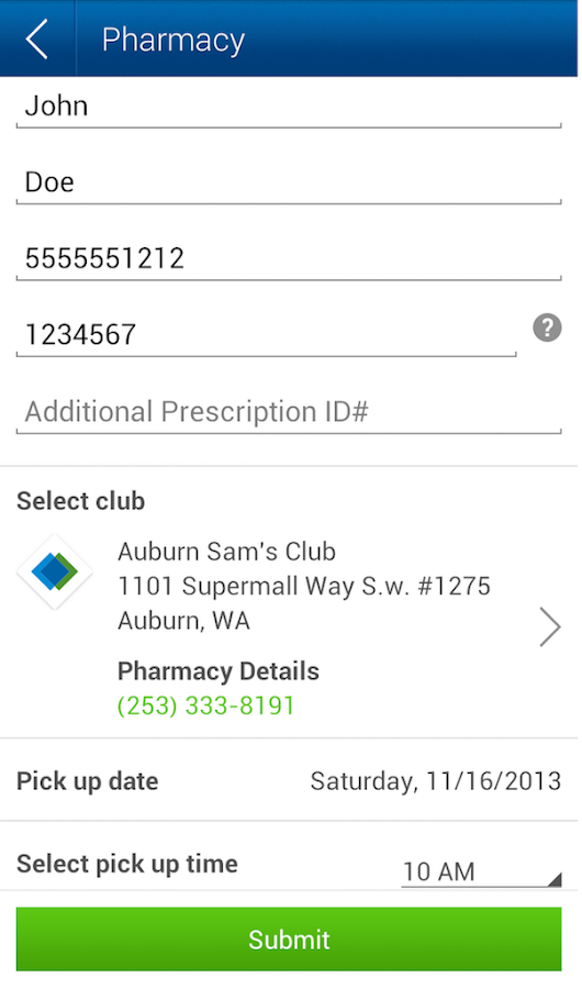 Sam's Club - screenshot