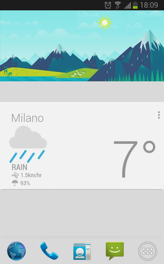 Google Now Cards UCCW skin - screenshot
