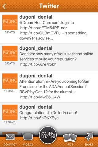 Dugoni School of Dentistry - screenshot