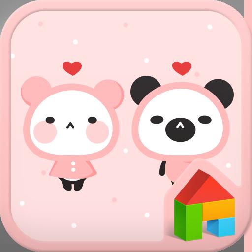 パンダピンクラブドドルランチャのテーマ 個人化 App LOGO-APP試玩