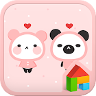 Pink Love Dodol launcher theme icon