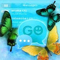GO SMS Theme Blue Butterfly