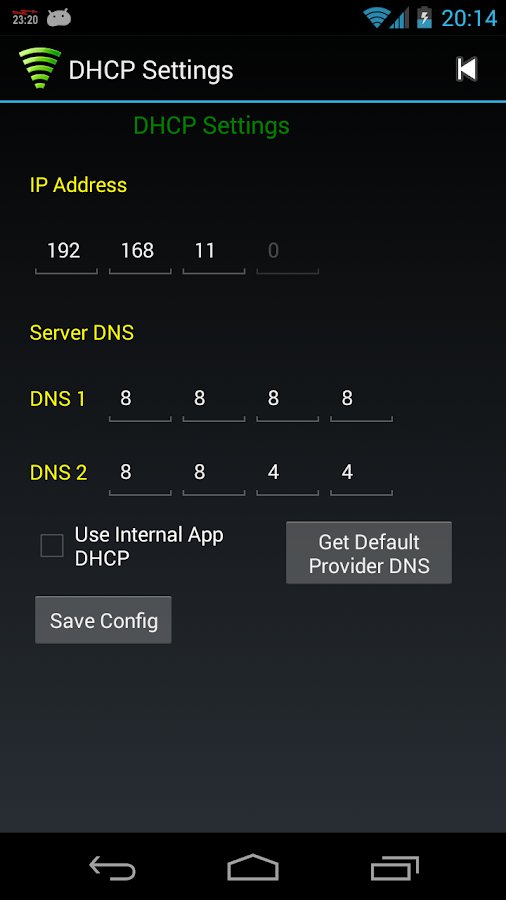 WiFi Tether Router - screenshot