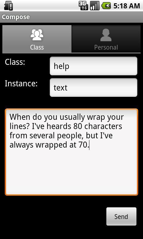 Zephyr- screenshot