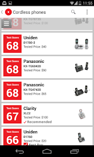 Ratings by Consumer Reports - screenshot thumbnail