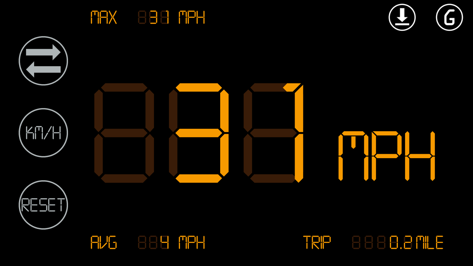 Simple Speedometer HUD2 - screenshot