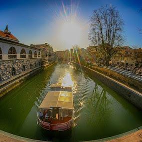 Sredi mesta....Ljubljanica by Jani Matko - Buildings & Architecture Other Exteriors