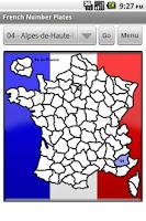 Screenshot of French Number Plates Free