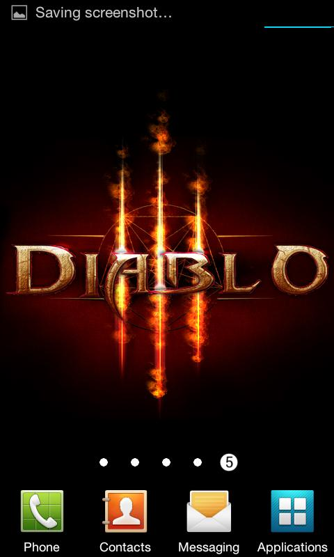 Diablo 3 Fire Live Wallpaper - screenshot