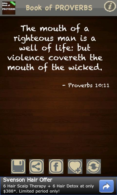 Book of Proverbs (KJV) FREE! - screenshot