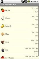 Screenshot of Frontierville Alarm