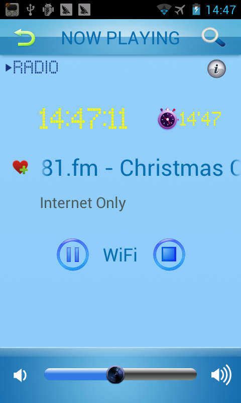 Holiday Radio - screenshot