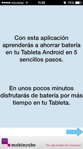 Ahorrar bateria TABLET