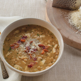 Portuguese-Style White Bean Soup with Chicken and Bacon