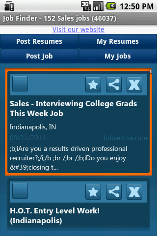 JobFinder - screenshot