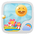 Cute Garden GO Weather Live BG icon