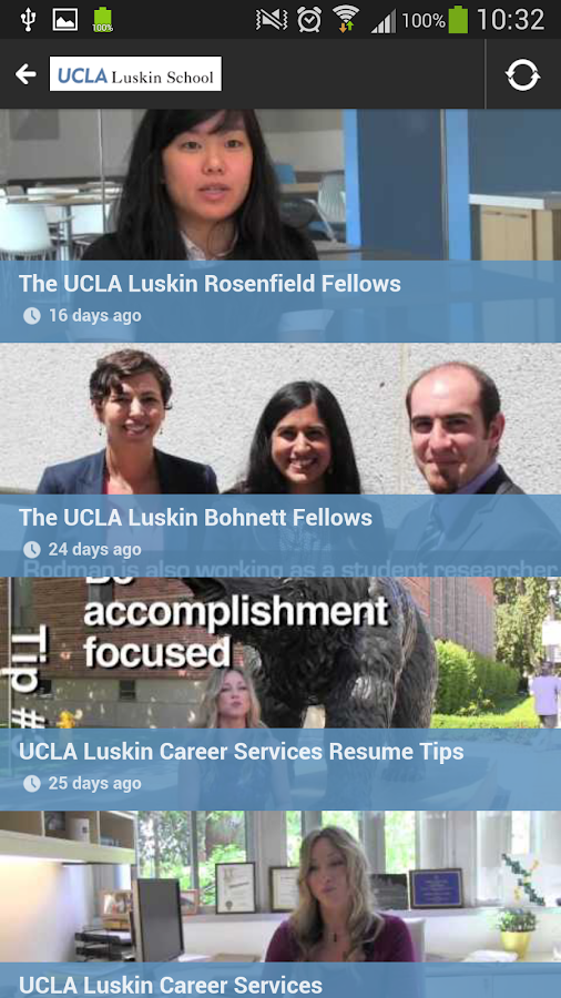UCLA Luskin School Mobile News - screenshot