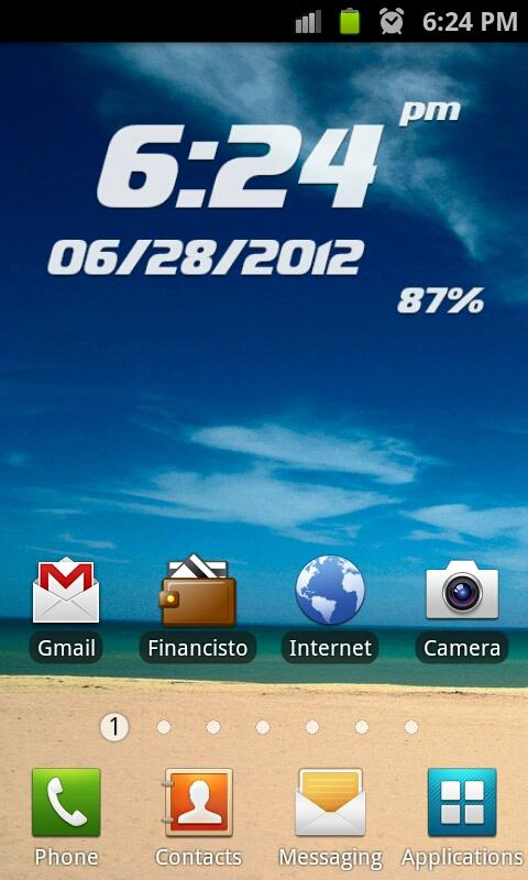 Proton Clock Widget Pro - screenshot