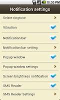 Screenshot of Wali SMS Application