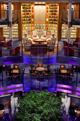 Celebrity_Eclipse_Library - Take time to unwind in the beautfiully designed library of Celebrity Eclipse.