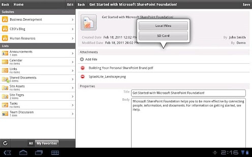 SharePlus - SharePoint Client - screenshot thumbnail